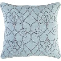 Surya Dotted Pirouette Blue Dotted Arabesque Shag Throw Pillow DP001