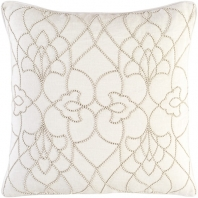 Surya Dotted Pirouette Beige Dotted Arabesque Shag Throw Pillow DP002