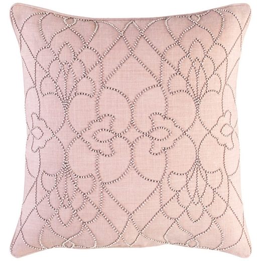 Surya Dotted Pirouette Pink Dotted Arabesque Shag Throw Pillow DP003