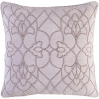 Surya Dotted Pirouette Purple Dotted Arabesque Shag Throw Pillow DP004