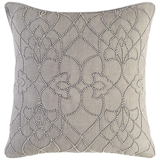 Surya Dotted Pirouette Gray Dotted Arabesque Shag Throw Pillow DP005