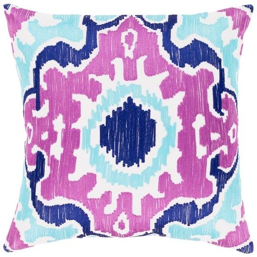 Surya Effulgence Purple Mid-Century Throw Pillow EFF002