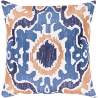 Surya Effulgence Blue Mid-Century Throw Pillow EFF003
