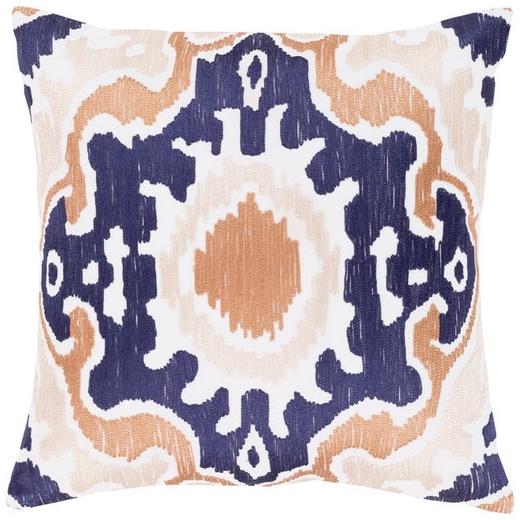 Surya Effulgence Blue Mid-Century Throw Pillow EFF004