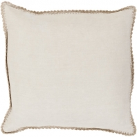 Surya Elsa Beige Throw Pillow EL007