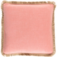 Surya Ellery Pink Fringe Throw Pillow ELY003