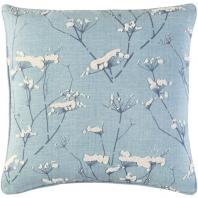 Surya Enchanted Blue Nature Scandinavian Throw Pillow EN001