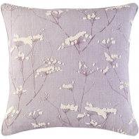 Surya Enchanted Blue Nature Scandinavian Throw Pillow EN003
