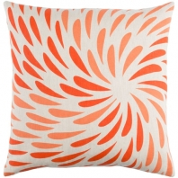 Surya Eye of the Storm Orange Abstract Scandinavian Throw Pillow ES001