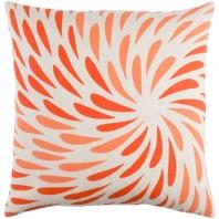 Surya Eye of the Storm Orange Abstract Scandinavian Throw Pillow ES001