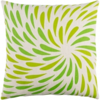Surya Eye of the Storm Green Abstract Scandinavian Throw Pillow ES003