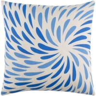 Surya Eye of the Storm Blue Abstract Scandinavian Throw Pillow ES005