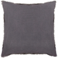 Surya Eyelash Black Fringe Throw Pillow EYL004