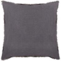 Surya Eyelash Black Fringe Throw Pillow EYL004