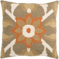 Surya Fallon Orange Floral Throw Pillow FA010