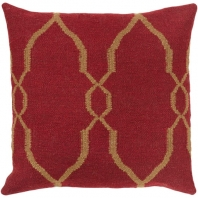 Surya Fallon Red Chain Mid-Century Throw Pillow FA019