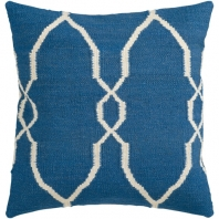 Surya Fallon Blue Floral Throw Pillow FA021