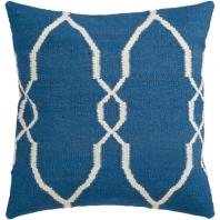 Surya Fallon Blue Floral Throw Pillow FA021