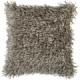 Surya Nitro Beige Fur Shag Throw Pillow FA054