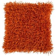 Surya Nitro Orange Fur Shag Throw Pillow FA059