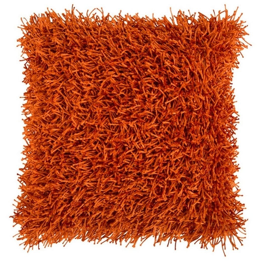 Surya Nitro Orange Fur Shag Throw Pillow FA059