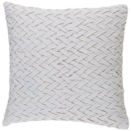 Surya Fa_ade White Basketweave Scandinavian Throw Pillow FC003