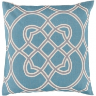 Surya Jorden Green Arabesque Mid-Century Throw Pillow FF005
