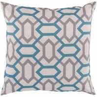 Surya Zoe Beige Diamonds Mid-Century Throw Pillow FF008
