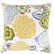 Surya Botanical Green Floral Throw Pillow FF027