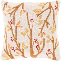 Surya Fall Harvest Beige Nature Throw Pillow FHI003