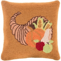 Surya Fall Harvest Orange Fruit Throw Pillow FHI004