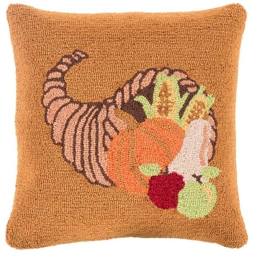 Surya Fall Harvest Orange Fruit Throw Pillow FHI004