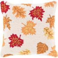 Surya Fall Harvest Beige Nature Throw Pillow FHI005