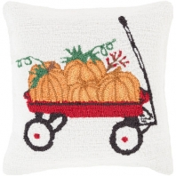 Surya Fall Harvest White Pumpkin Throw Pillow FHI006
