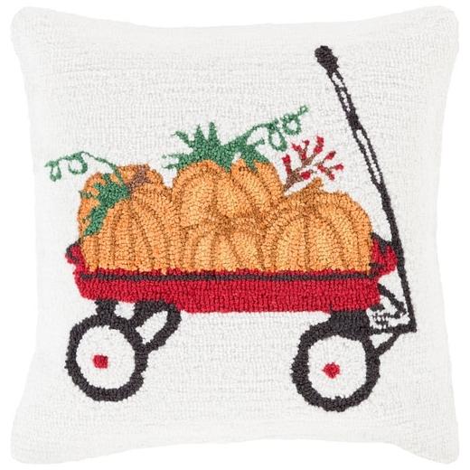 Surya Fall Harvest White Pumpkin Throw Pillow FHI006