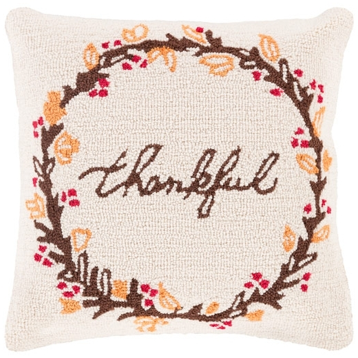 Surya Fall Harvest Beige Throw Pillow FHI007