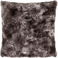 Surya Felina Black Faux Fur Shag Throw Pillow FLA001