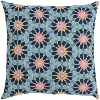 Surya Francesco Blue Geometric Mid-Century Throw Pillow FNC001