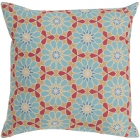 Surya Francesco Blue Geometric Mid-Century Throw Pillow FNC002