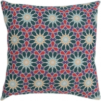 Surya Francesco Green Geometric Mid-Century Throw Pillow FNC003
