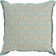 Surya Francesco Beige Geometric Flange Mid-Century Throw Pillow FNC005