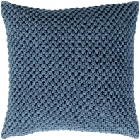 Surya Godavari Blue Crochet Throw Pillow GDA001