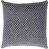 Surya Godavari Blue Crochet Throw Pillow GDA002