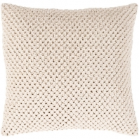 Surya Godavari Beige Crochet Throw Pillow GDA003