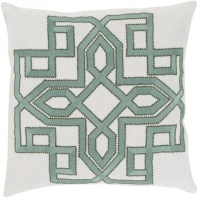 Surya Gatsby Gray Geometric Mid-Century Throw Pillow GLD001