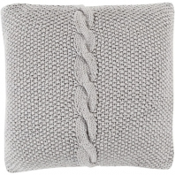 Surya Genevieve Gray Braided Throw Pillow GN003