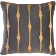 Surya Graphic Stripe Black Stripe Mid-Century Throw Pillow GS004