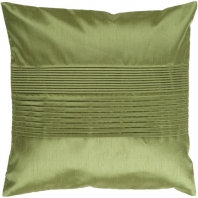 Surya Solid Pleated Green Throw Pillow HH013