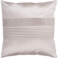 Surya Solid Pleated Beige Throw Pillow HH015