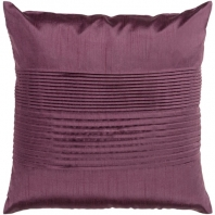 Surya Solid Pleated Purple Throw Pillow HH016